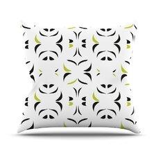 Retro Green Snow Storm Throw Pillow