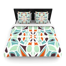 Stained Glass Orange Purple Duvet Cover