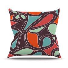 Retro Swirl Outdoor Throw Pillow