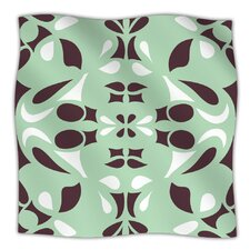 Swirling Teal Microfiber Fleece Throw Blanket
