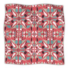 Stained Glass Pink Microfiber Fleece Throw Blanket