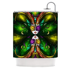 Topsy Turvy Polyester Shower Curtain