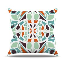 Stained Glass Orange Purple Throw Pillow