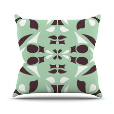 Swirling Teal Throw Pillow