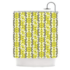 Whirling Leaves Polyester Shower Curtain