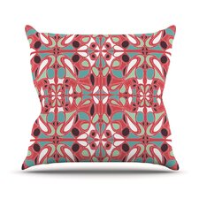 Stained Glass Pink Throw Pillow