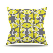 Flowering Hearts Throw Pillow