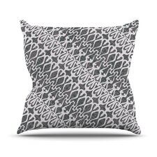 Silver Lace Throw Pillow