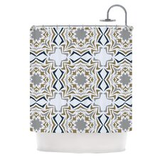 Ice Stars Polyester Shower Curtain