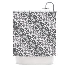Silver Lace Polyester Shower Curtain