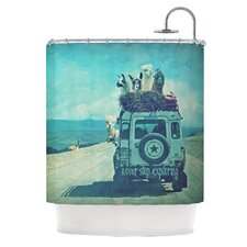 Never Stop Exploring III Polyester Shower Curtain
