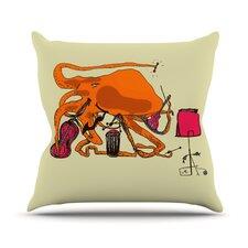 Playful Octopus Throw Pillow