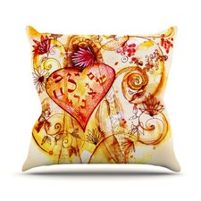 Tree of Love Outdoor Throw Pillow