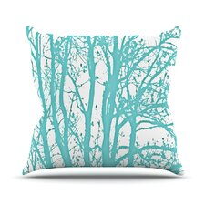 Mint Trees Throw Pillow
