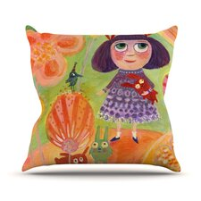 Flowerland Throw Pillow