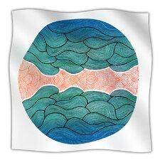 Ocean Flow Microfiber Fleece Throw Blanket