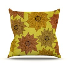 Its Raining Flowers Throw Pillow