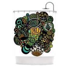 Multicolor Life Polyester Shower Curtain