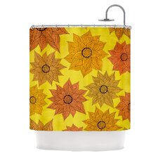 Its Raining Flowers Polyester Shower Curtain