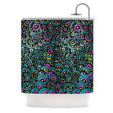 Peacock Tail Polyester Shower Curtain