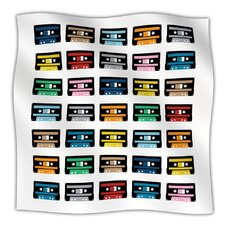 Rainbow Tapes Microfiber Fleece Throw Blanket