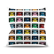 Rainbow Tapes Throw Pillow