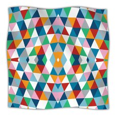 Geometric Microfiber Fleece Throw Blanket