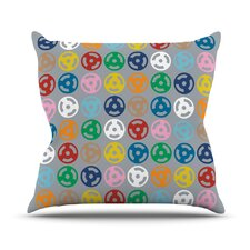 Roll with It On Grey Throw Pillow