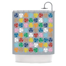 Roll with It On Grey Polyester Shower Curtain