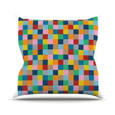 Colour Blocks Zoom Throw Pillow