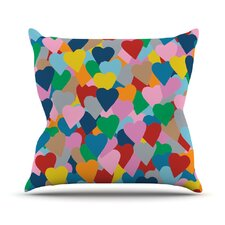 More Hearts Throw Pillow