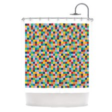 Colour Blocks Polyester Shower Curtain
