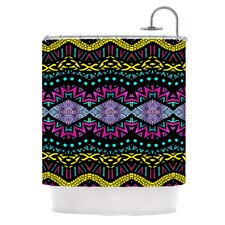 Tribal Dominance Polyester Shower Curtain