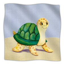 Slow And Steady Microfiber Fleece Throw Blanket