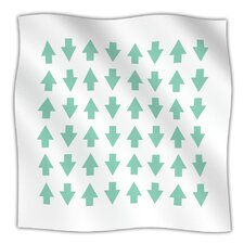 Arrows Up And Down Microfiber Fleece Throw Blanket
