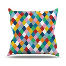 Harlequin Zoom Throw Pillow