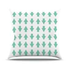 Arrows Up And Down Throw Pillow