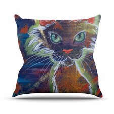 Rave Kitty Throw Pillow