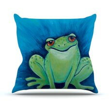 Ribbit Ribbit Throw Pillow