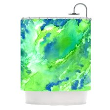 Touch of Blue Polyester Shower Curtain