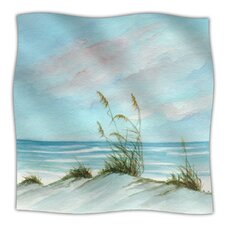 Sea Oats Microfiber Fleece Throw Blanket