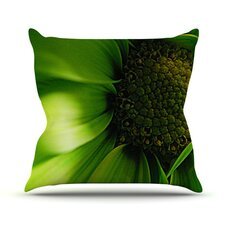Green Flower Throw Pillow