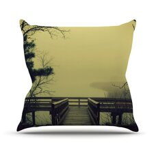 Fog on The River Throw Pillow