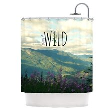Keep It Wild Polyester Shower Curtain