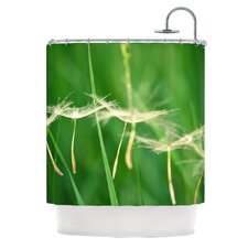 Best Wishes Polyester Shower Curtain