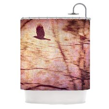 Midnight Dreary Polyester Shower Curtain