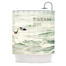 Dream Big Polyester Shower Curtain