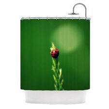 Ladybug Hugs Polyester Shower Curtain