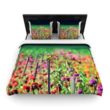 Live in the Sunshine by Robin Dickinson Woven Duvet Cover