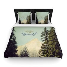 Happy Trails by Robin Dickinson Woven Duvet Cover